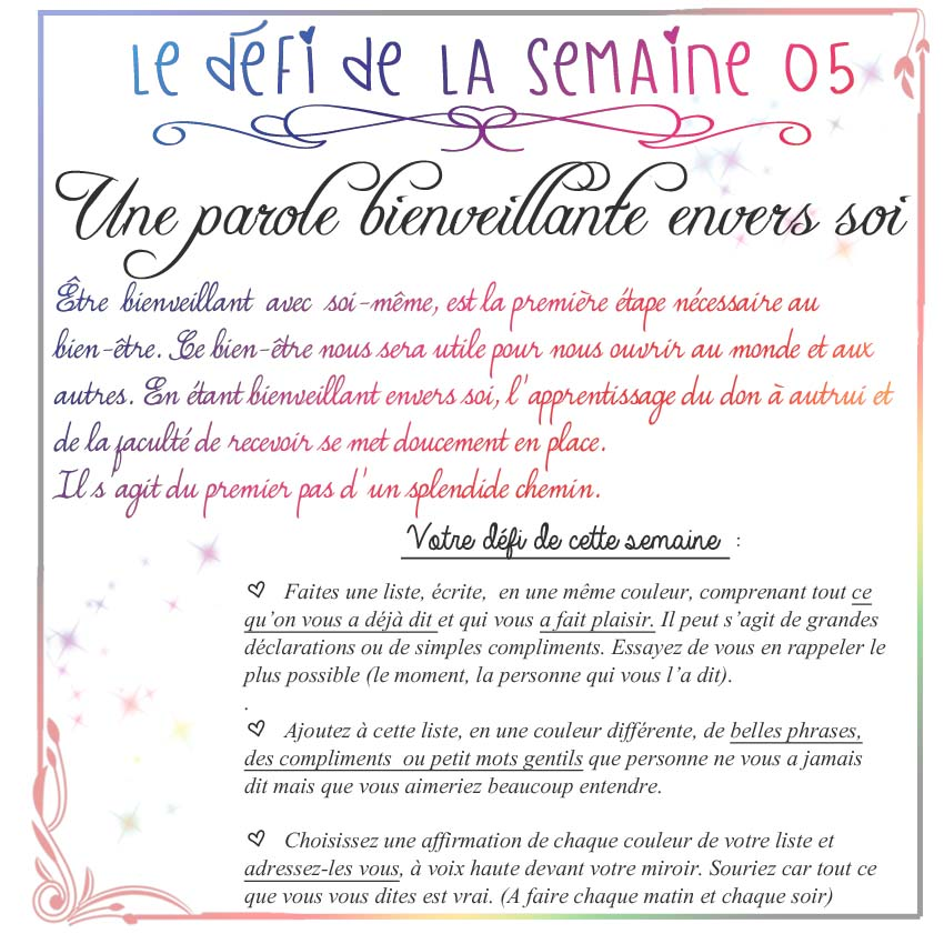 paroles bienveillantes